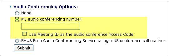 audio conferencing integration