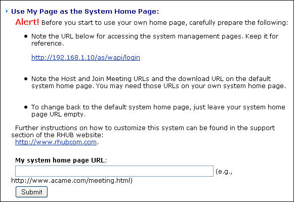 meeting page customization