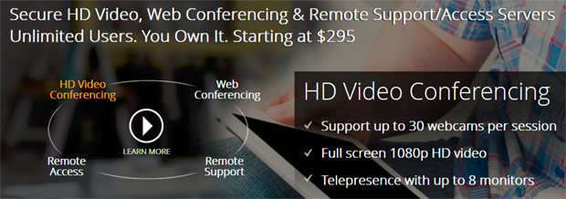 R-HUB Web/Video/Audio Conferencing and Remote Support Server