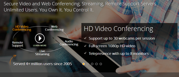 R-HUB Web/Video/Audio Conferencing, Live Streaming and Remote Support Servers